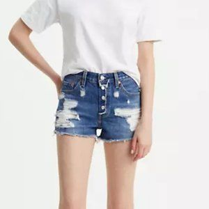 LEVI'S 501 Distressed Cut Off Short Button Fly Y28